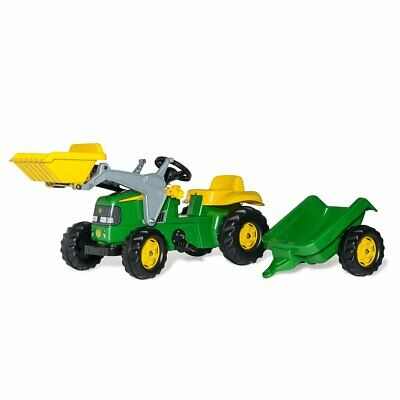 £119.99 • Buy Rolly Kid John Deere Ride-On Tractor With Frontloader & Trailer