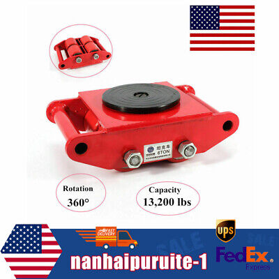 $62 • Buy Heavy Equip Machine Dolly Skate Machinery Roller Mover Cargo Trolley US Stock