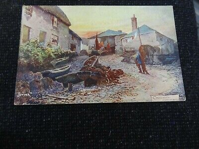 £4 • Buy Cadgwith Cornwall Artist Signed Jotter Postcard - 39036