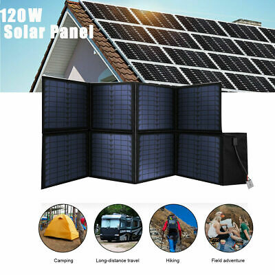 £99.99 • Buy 12V 120W Foldable Solar Panel Kit Battery Charger Controller Portable Camping RV