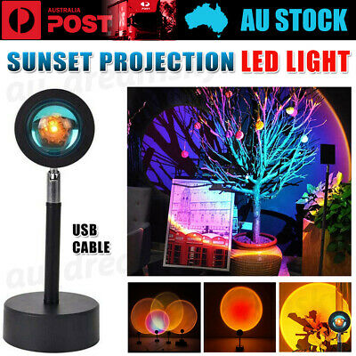 AU18.88 • Buy LED Sun Sunset Rainbow Projector Atmosphere Light Lamp USB Home DIY Gifts Cool