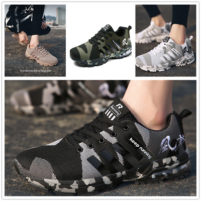 £18 • Buy Mens Camouflage Sports Shock Absorption Shoes Trainers Running Skateboard Shoes