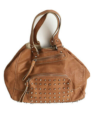 Next Shopper Bag Brown Leather Rodeo Studs Cowgirl Western • 1£