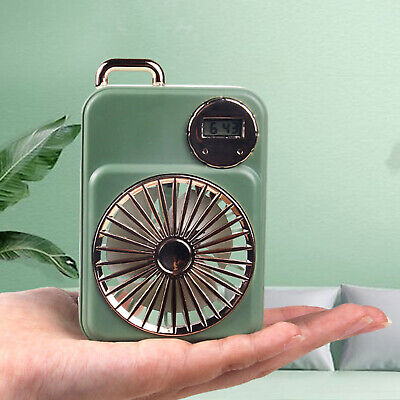 AU10.98 • Buy Air Circulating Fan Small USB Rechargeable Desk Fan With Clock For Camping