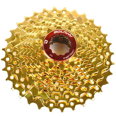 AU37.35 • Buy BOLANY MTB Bike 9 Speed 11-32T Gold Cassette Flywheel Fit Sram Avid Shimano New