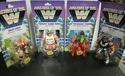 $99.99 • Buy WWE Masters Of The Universe Wave 5 Action Figures Complete Set Unpunched Cards