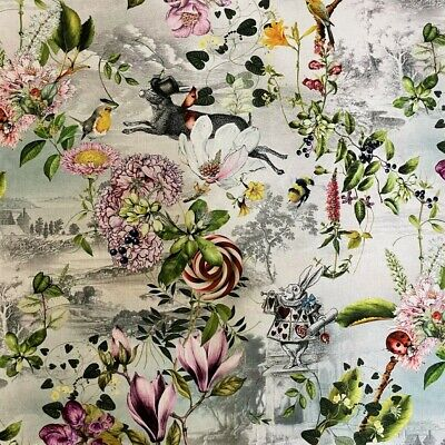 £25.95 • Buy Fantasy Alice In Wonderland Cotton Upholstery Curtains Soft Furnishing Fabric