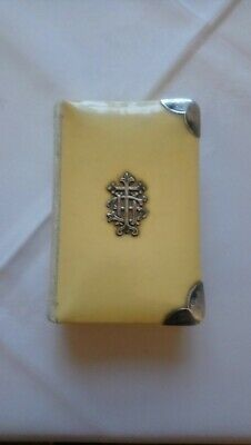 £39.99 • Buy Antique Hallmarked Sterling Silver & Celluloid Common Prayer Bible Book