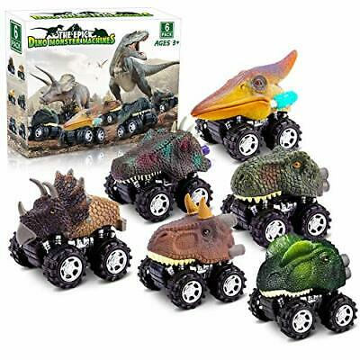 AU29.23 • Buy Dinosaur Toys  6 Pack Set Car Toys, Gifts For Kids 2 3 4 5 6 Year Old Boys Girls