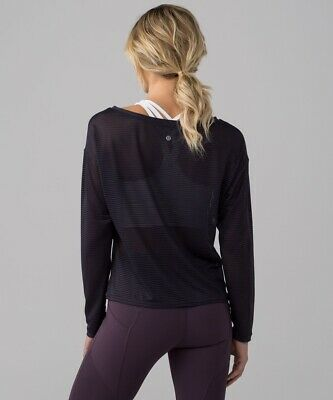 $ CDN83.71 • Buy LULULEMON Lean In LS Women's Top Size 12 Color Black NEW W/Tag $78