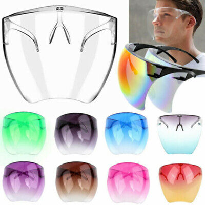 £5.99 • Buy Face Shield PPE Mask Protective Facial Cover Anti-Fog Transparent Clear Glasses