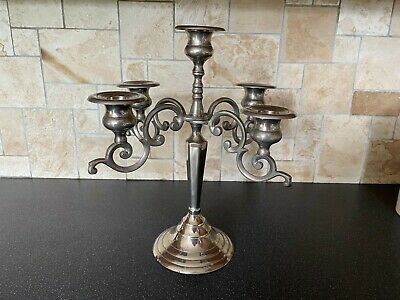 £14.99 • Buy 5 Sconce Silver Plated/Metal Candelabra