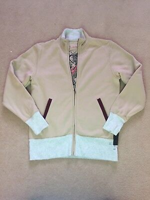 Ringspun Designer Mens New Beige Cotton Jacket Size Small • 22£