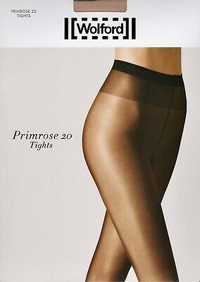 Wolford Satin Touch Primrose 20 Denier STW Tights Pantyhose - Large - Beige • 5.50£