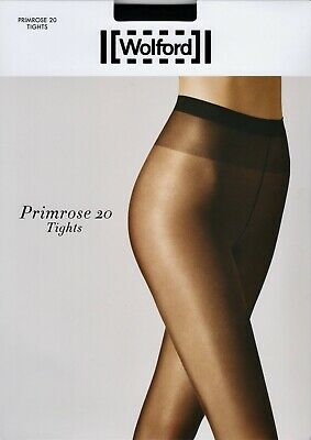 Wolford Satin Touch Primrose 20 Denier STW Tights Pantyhose - Large - Black • 5.50£