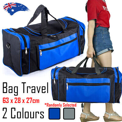 AU22.68 • Buy Duffle Travel Bags SPORTS BAG LARGE Strap Handle Gym Water Resistant Blue/ Grey