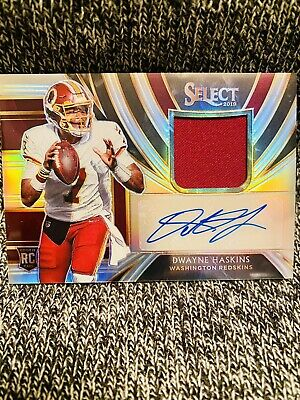 $ CDN89.48 • Buy Dwayne Haskins RC 2019 Select Rookie Patch Auto /49 RPA STEELERS REDSKINS 📈🔥🔥