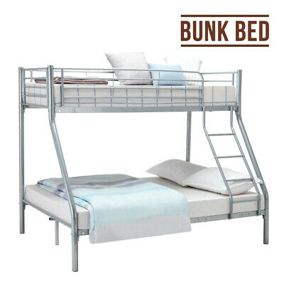 £128.98 • Buy Single Double Triple Bunk Bed Frame Metal With Stair 3ft / 4ft6 Bed Frame