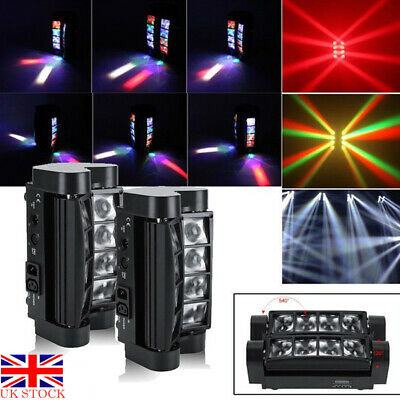 £64.99 • Buy 80W 8LEDs  Spider Moving Head Stage Lighting LED DMX Party DJ Disco  Shows Light