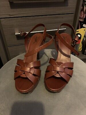 YSL Tribute Sandals Size 40 UK 7 • 80£