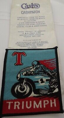 Triumph Motorcycles Biker Rocker Badges Iron Sew On Embroidered Patches Never Us • 4.99£