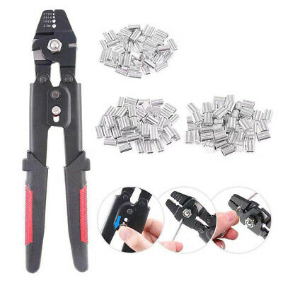AU25.99 • Buy Fishing Crimping Pliers Wire Rope Crimper Hand Crimping Tools Set 0.1mm-2.2mm