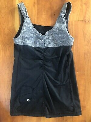 $ CDN18.14 • Buy LULULEMON 4 Tank Top Black Gray