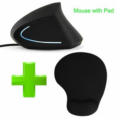AU37.09 • Buy Wired Mouse LED Light 3200DPI Optical Computer Gaming Mouse Vertical For Gamer