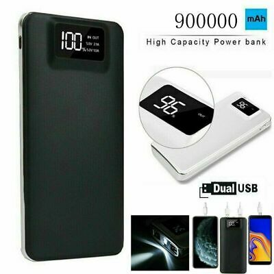AU22.99 • Buy Portable 900000mAh Power Bank Charger Backup Battery 2USB LED For Mobile Phone
