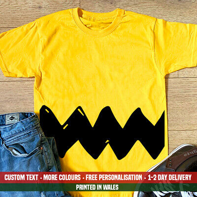 £12.99 • Buy Charlie Brown T Shirt Funny Stripe Snoopy Lazy Halloween Fancy Dress Gift Top