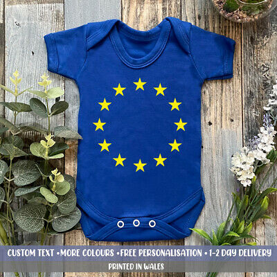 £10.99 • Buy European Union Flag Baby Vest Holiday Super Cute EU Europe Brexit Babies Gift
