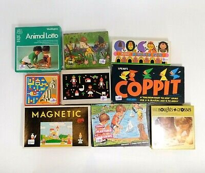 £19.99 • Buy Vintage Board Games/Puzzles/Children's Toys, Retro Job Lot X 9 Old Games KL/BW