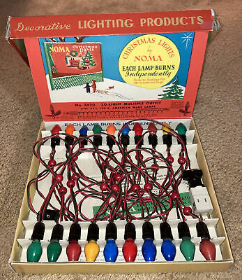 $ CDN121.30 • Buy Vintage Christmas Lights By Noma! New In Box-Never Used!