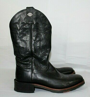 $ CDN54.40 • Buy HARLEY DAVIDSON 10 M Black Western Leather Cowboy Boots