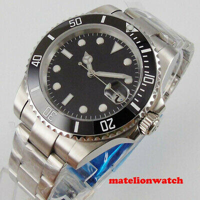 $ CDN71.33 • Buy Men's Automatic Watch Black Dial SUB Sapphire Glass Date Window Oyster Bracelet