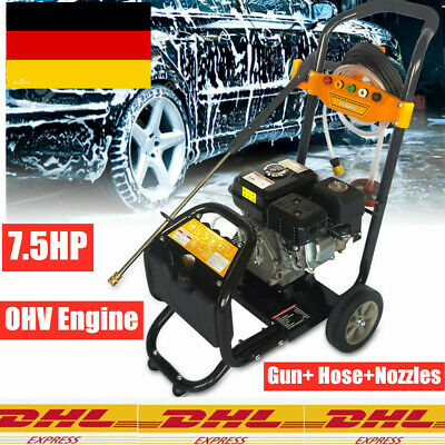£219 • Buy Commercial 7.5HP Petrol High Power Pressure Jet Washer Gun Hose Nozzles OHV DHL