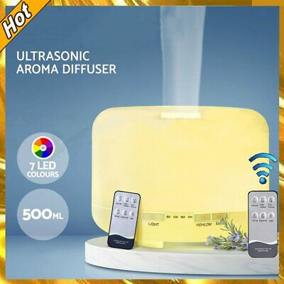 AU26.79 • Buy 500ML Ultrasonic Aroma Aromatherapy Diffuser Oils Electric Humidifier Remote AU