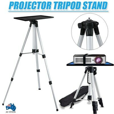 AU40.99 • Buy Projector Tripod Stand Aluminium Adjustable For Laptop With Tray 53-140cm Height