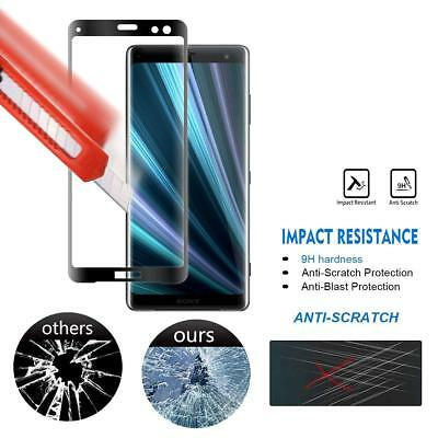 AU5.09 • Buy 3X For Sony Xperia 5 1 10 XZ3 XZ2 XA2 Curved Tempered Glass Screen Protector