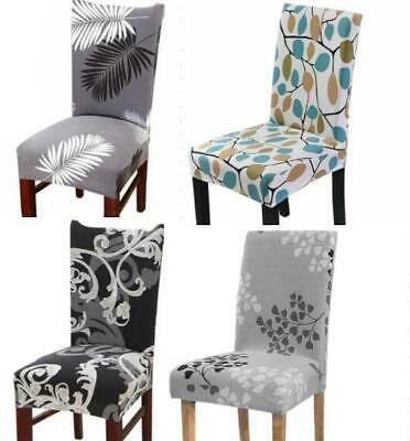 AU16.99 • Buy 6Pcs Dining Chair Seat Covers Spandex Slip Cover Stretch Wedding Banquet Party