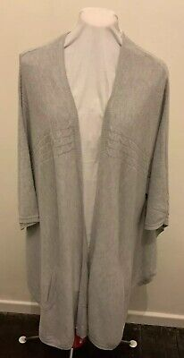 £6.50 • Buy Tu Pale Grey Fine Knit Ladies Wrap/Shawl With Pockets XL Condition Is Excellent