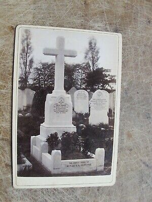 £4 • Buy Victorian Cabinet Card- Death / Grave Card - Mills Of Highgate London