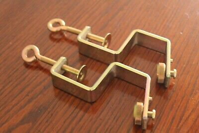 £17.95 • Buy Brother Machine Knitting Table Clamps For Double Bed Knitting Ribber Attached