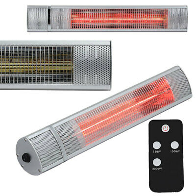 £139.95 • Buy Electric Patio Heater Wall Mounted Halogen Garden Lamp Outside Heats With Remote