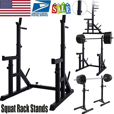 $ CDN202.82 • Buy Adjustable Squat Rack Bench Press Power Weight Rack Lifting Barbell Stand Home