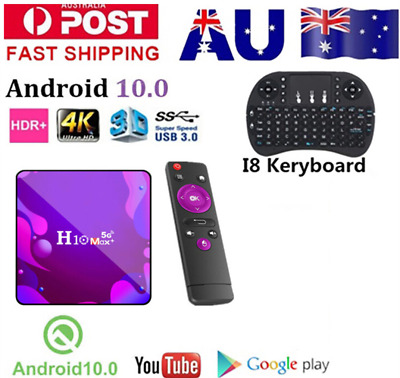 AU32 • Buy 2021 H10MAX+ 4K Android 10.0 Smart TV BOX 5G WIFI USB3.0  Media Player AU STOCK