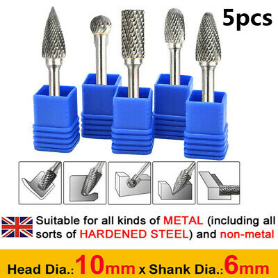£15.59 • Buy 5PCS Tungsten Carbide Rotary Burr Set Drill Die Grinder Shank Metal Carving Bits
