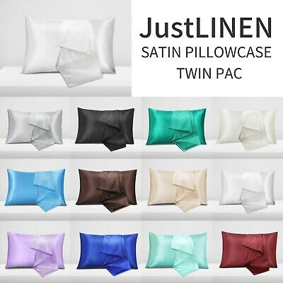 AU9.99 • Buy 2X Satin Pillow Case Pillow Covers Bedroom Pillowcase Home Decor Luxury 2021 NEW