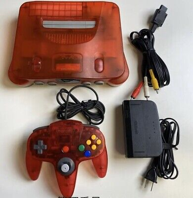 $ CDN136.23 • Buy Nintendo 64 N64 Console System Water Melon Clear Red Japan Limited Model Set