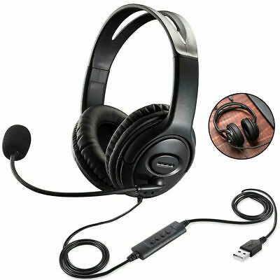 £10.95 • Buy USB Wired Computer Headset With Microphone For Business Skype PC Chat Laptop UK